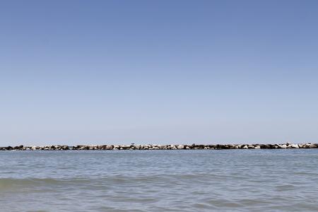 Landscape with Adriatic sea in Italy Zdjęcie Seryjne
