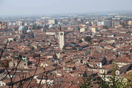 aerial view of Brescia, in northern Italy Zdjęcie Seryjne