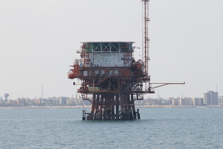 offshore oil and gas platform on the ocean