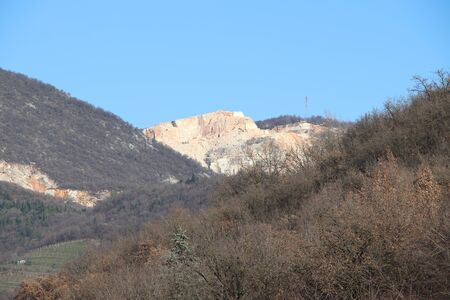 marble quarries in Botticino in northern Italy