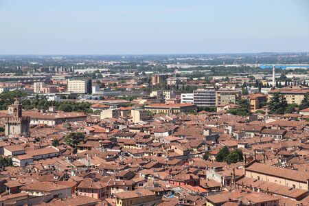 aerial view of Brescia, city in northern Italy