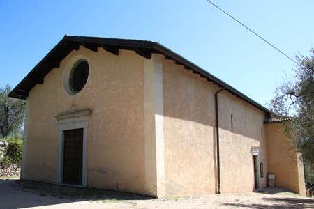 ancient sanctuary of Supina, catholic church building in Toscolano, Brescia, Italy Imagens
