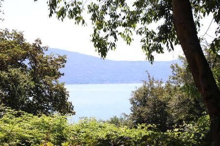landscape of Garda lake in northern Italy Imagens