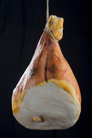 parma ham: Parma Ham in black background