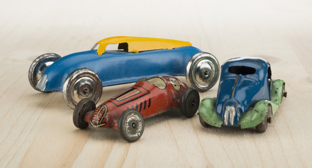 tin: Vintage tin toy car