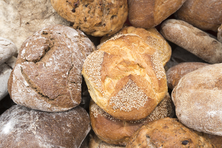 Various types of bread 版權商用圖片