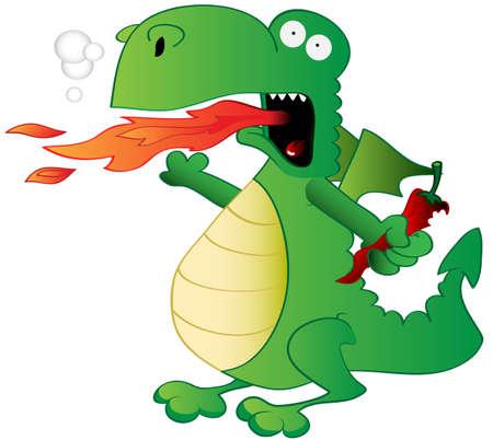 fruit du dragon: Jalapeno du Dragon Illustration