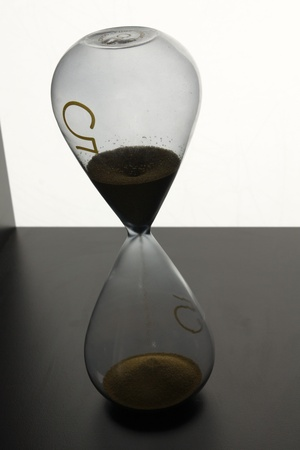 Still life of an hourglass photo