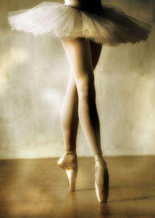 classic dance: Las piernas de bailarina  Foto de archivo