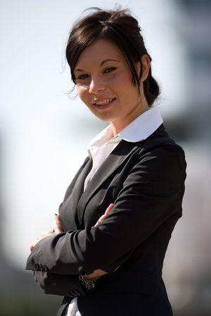 trustable: Headshot de una mujer de negocios Foto de archivo