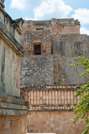 Maya temple, of the Ek Balam archaeological area, in the Yucatan peninsula
