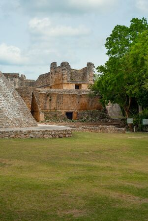 View of the Ek Balam archaeological area, in the Yucatan peninsula