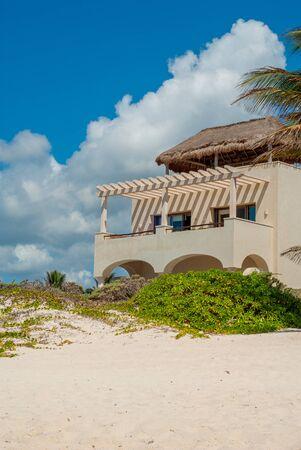 Residence shot in Tulum beach, in the Mexican Yucatan peninsula