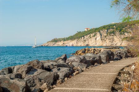 Sea and mountains, captured by the port of Massa Lubrense, near Sorrento