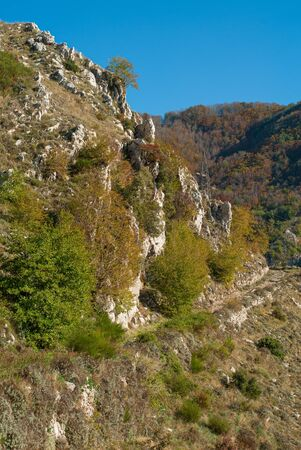 Upper and rocky part of Mount Faito, covered by vegetation