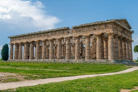 Temple of Neptune, Greek God of the waters, taken in the archaeological area of Paestum