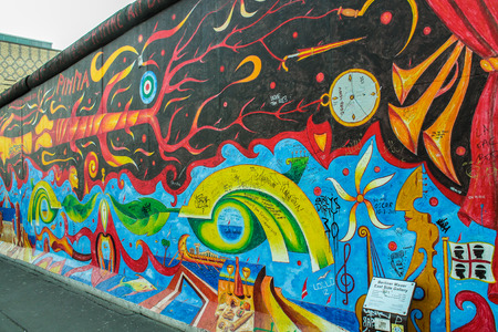 iron curtain: Berlin wall in Germany, symbol of the Iron Curtain that separated Western Europe and the Eastern Bloc during the Cold War.