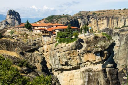 The meteora, one of the largest and most important complexes of Eastern Orthodox monasteries in Greece
