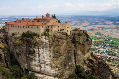 The meteora, one of the largest and most important complexes of Eastern Orthodox monasteries in Greece photo
