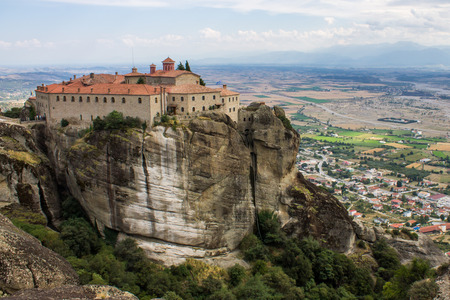 meteora: The meteora, one of the largest and most important complexes of Eastern Orthodox monasteries in Greece