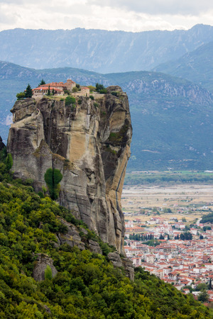 ascetic: The meteora, one of the largest and most important complexes of Eastern Orthodox monasteries in Greece