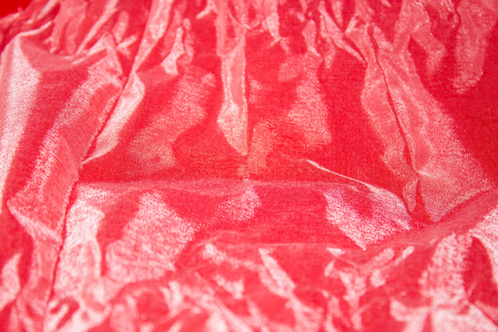 frizz: background of a texture red fabric frizz