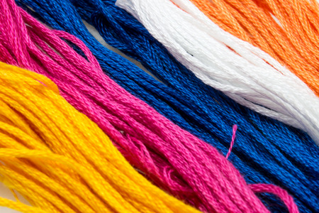 terrycloth: close up of several strands of soft colored cotton