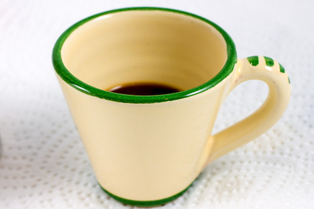 decaffeinated: a cup of an italian short coffee