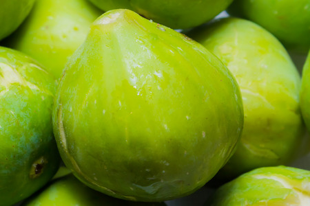 enzymes: closeup of a green and fresh fig