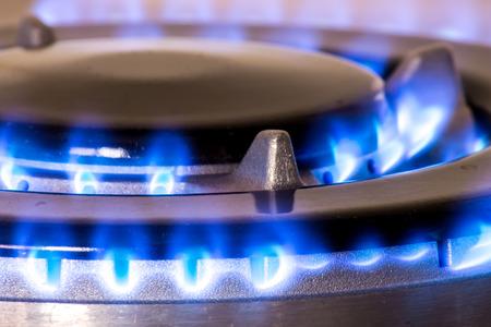 stovetop: Closeup of a gas burner of a stove