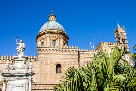 virgin: Metropolitan Cathedral of the Assumption of Virgin Mary in Palermo, Italy Stock Photo