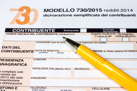 Form to fill Italian called  7302015 for the tax return of 2014 photo