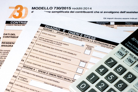 tax return: form to fill Italian called  7302015 for the tax return of 2014