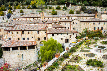 st  francis: Franciscan Hermitage Le Celle of St. Francis of Assisi in Cortona, Italy
