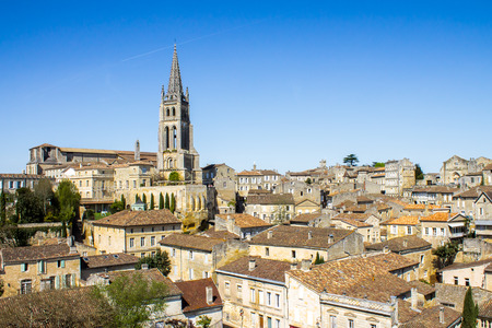 gironde: cityscape of Saint-Emilion, Typical town near Bordeaux in France, famous for the viticulture