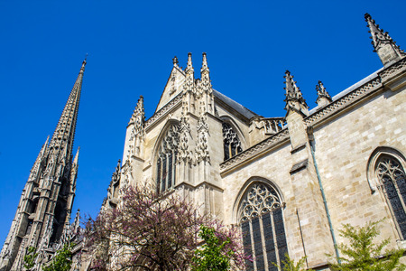 intermediate: Facade of The Saint-Michel Basilica in Bordeaux, it was listed a, as an intermediate goal of voie de Tours, one of the routes to Santiago de Compostela in France