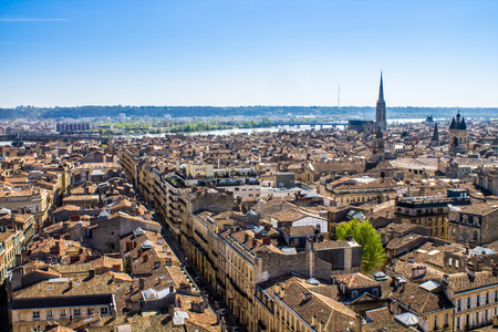 Aerial view of the city of Bordeaux in france 스톡 콘텐츠