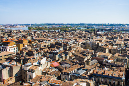 aerial view of the city of Bordeaux in france 版權商用圖片