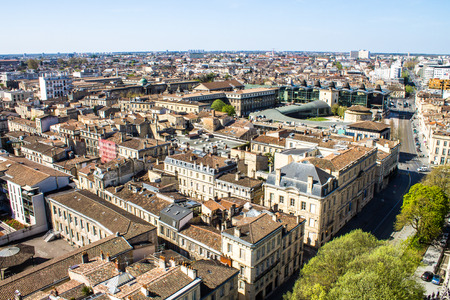 aerial view of the city of Bordeaux in france 写真素材