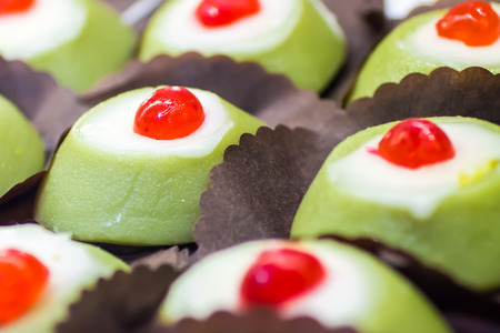 some little Cassata siciliana, a traditional sweet from Palermo, Sicily, Italy