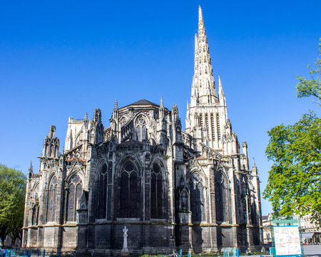 andrew: Facade of the St. Andrew Cathedral in Bordeaux, France
