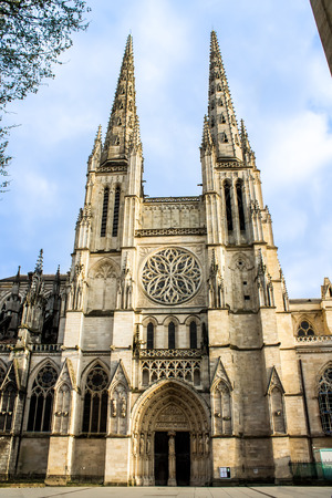 andrew: Facade of the St. Andrew Cathedral in Bordeaux