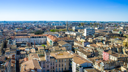 patrimony: Aerial view of the city of Bordeaux in france Stock Photo