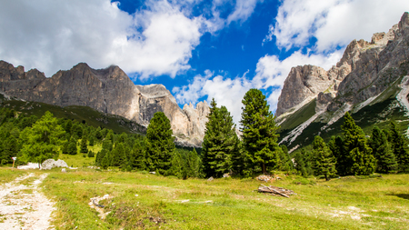 rosengarten: view of The Rosengarten group, a massif in the Dolomites of northern Italy