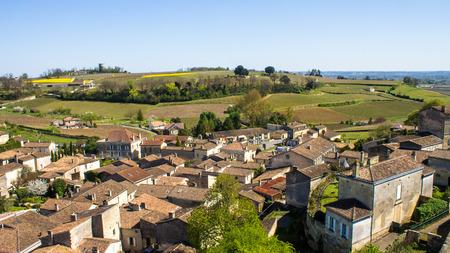 saint emilion: Panoramic view of Saint Emilion and the vineyard, near Bordeaux, France