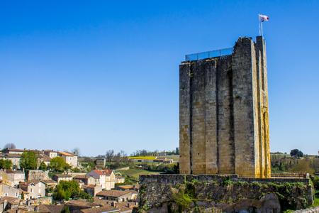 saint emilion: Saint Emilion, little town near Bordeaux famous for vineyards, with the Kings tower, France