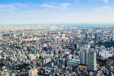Panoramic aerial view of Tokyo in Japan