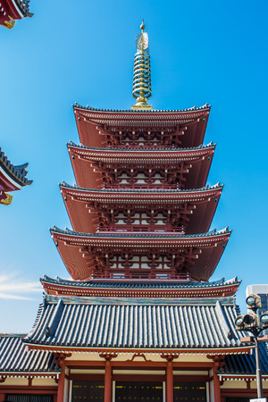 storied: the five storied pagoda at Senso-Ji, Tokyos oldest temple, Japan
