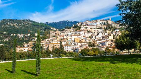 lazio: view of Cori, an ancient town near Latina, in the Lazio region of central Italy Stock Photo