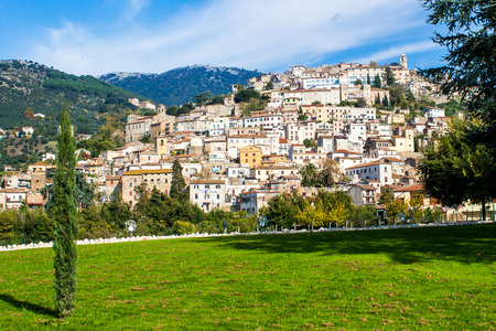 View of Cori, an ancient town near Latina, in the Lazio region of central Italy Stock Photo